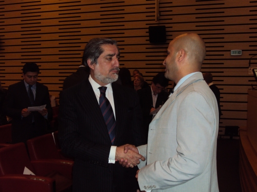Afridi with for Afghan Foreign Minister Dr. Abdullah abdullah